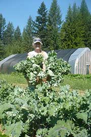 linda with kale