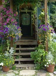 Flowered entryway